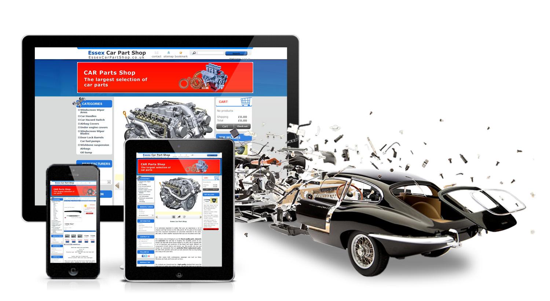 Onlineshop Mit Autoteilen Erstellen Kfz Teile Verkauf Entwurf