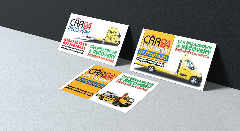 Visitenkarten Entwerfen Für Einen Abschleppdienst
