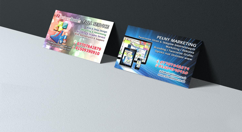 Visitenkarten Erstellen Für Eine Marketing Agentur Entwurf