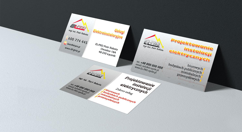 Visitenkarten Designen Für Elektroinstallationen Entwurf