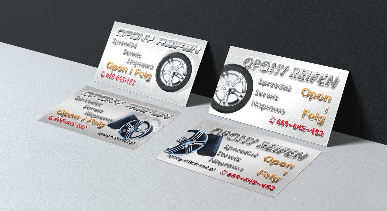 Visitenkarten Erstellen Für Einen Reifen Service Entwurf