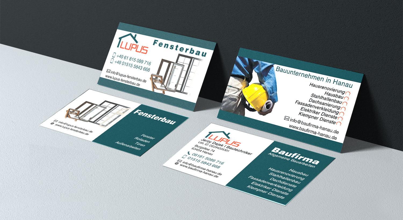 Visitenkarte Entwerfen Für Eine Fensterbaufirma Erstellung