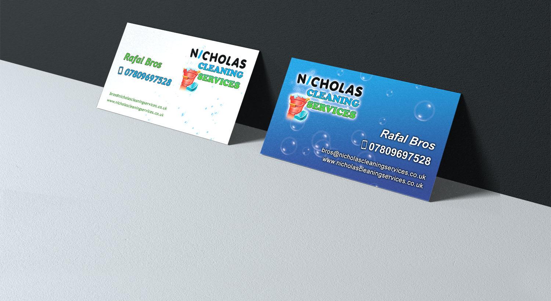 Firmenwerbung Für Eine Putzfirma Visitenkarten Für Eine